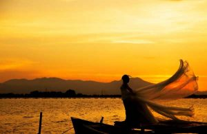 sposa tramonto